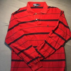 Polo by Ralph Lauren red black long sleeve polo